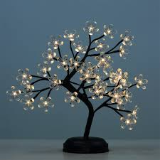 amazon com lightshare 18 inch crystal flower led bonsai tree