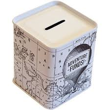 money box adventure funds tin money box