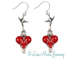 rockabilly earrings rockabilly heart earrings jimenez