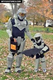 Master Chief Halloween Costumes Father Son Halo Costumes Brandon