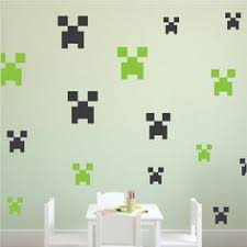 Minecraft Bedroom Decals by Minecraft Creeper Wall Design Creepers Bedroom Wall Stickers