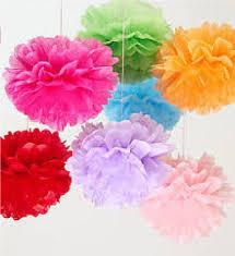 Basta Balão Pompom Bola FloresPapel Seda 15 cm no Elo7   Organizações  #YN55