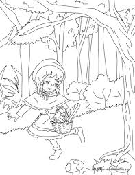 the little red riding hood tale coloring pages hellokids com