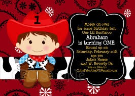 Cowboy Christmas Party Invitations - invitation cowboy invitation template