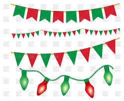 christmas lights ans party buntings vector clipart image 95464