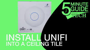 install an unifi access point in ceiling tile youtube