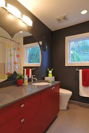 Gray And Red Bathroom Ideas - red black and white interiors living rooms kitchens bedrooms