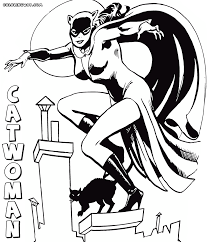 catwoman 4 superheroes printable coloring pages in coloring pages