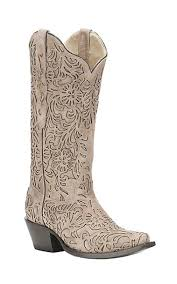 corral womens boots sale corral boot company s taupe with floral overlay snip