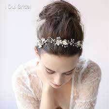 bridal headwear pearl floral bridal headband handmade bridal hat hair