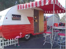 Vintage Trailer Awning Cote De Texas Glamping U2013trailer Style