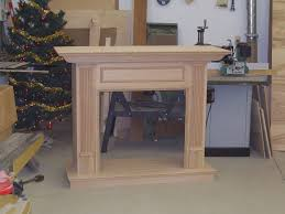 hand made custom red oak mantles by jeffrey william construction