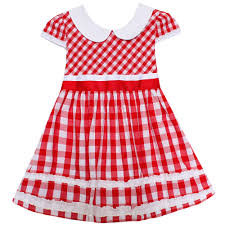 aliexpress com buy shybobbi girls dress red tartan sundress