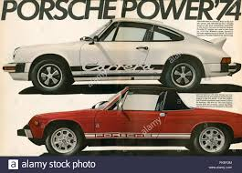 porsche usa 1970s usa porsche magazine advert stock photo royalty free image