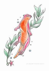 sea otter tattoo design by fabianfucci on deviantart