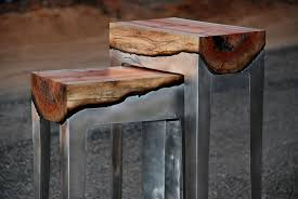 how to get stains out of wood table wood and metal unite in striking furniture by hilla shamia bored panda