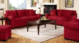 Red Living Room Furniture | cindy crawford home bellingham cardinal 5 pc living room living