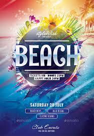 22 beach flyer templates u2013 psd eps files download free