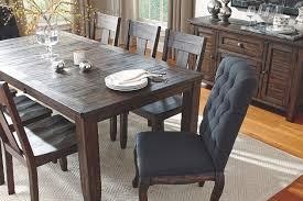Dark Wood Dining Room Table Trudell Dining Room Table Ashley Furniture Homestore