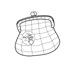 small bag coloring page for girls printable free