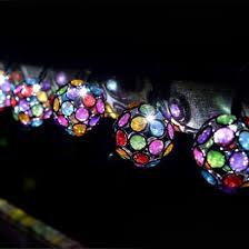 solar string lights solar multi coloured glow gem string lights