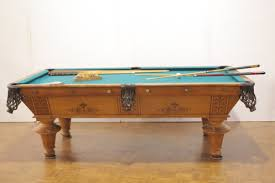 brunswick monarch pool table antique oak pool table brunswick balke collender auction union