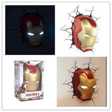 Iron Man Night Light Creative Ironman Spiderman Captain America 3d Wall Lamp Amazing