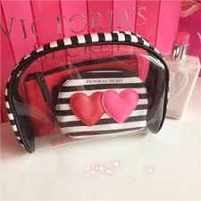 free pose victoria 39 s secret cosmetic bag make up wash 3 bags set