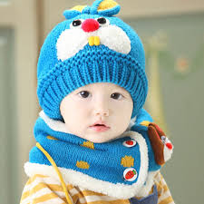 baby infant winter warm hat and scarf set beanie baby hat new