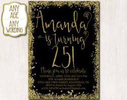 25th birthday invitations etsy