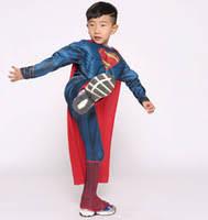 Halloween Costumes Kids Superhero Cheap Children Superman Costume Free Shipping Children