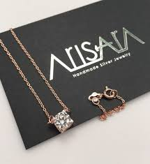 silver plated necklace images De present silver plated pink gold necklace arisara jewelry jpg