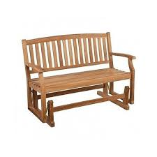 teak outdoor glider bench wooden garden double seat patio porch