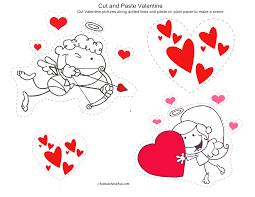 valentine u0027s day cut and paste printable kidscanhavefun blog