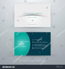 modern simple business card template vector stock vector 217628995