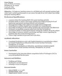 Great Teacher Resumes First Time Teacher Resume How To Prepare A Resume Best Ideas