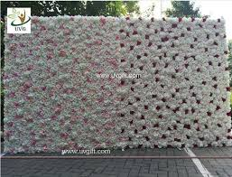 backdrops for uvg 8ft high pink realistic roses wedding flower wall