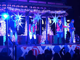 a disney christmas tree lighting at fashion island mall