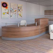 Plywood Reception Desk Curved Reception Desk With Glass Sign In Area Round Reception
