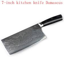 couteau de cuisine professionnel japonais 7 pouces damas couteau de cuisine professionnel couperet couperet