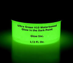 amazon com ultra green v10 glow in the dark paint 1 2oz
