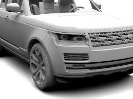 range rover white 2017 range rover svautobiography dynamic 2017 3d model max obj 3ds fbx