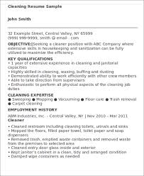 Sample Resume For Cleaning Job by Job Resume Examples 9 Free Word Pdf Format Download Free