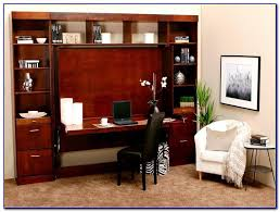 Desk Wall Bed Combo Murphy Bed With Desk Attached Bedroom Home Decorating Ideas