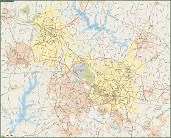 Raleigh Nc Map Raleigh U0026 Durhaml Metro Map Digital Creative Force
