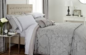 Bhs Duvet Covers Bedding Set Stunning Silver And White Bedding Details About