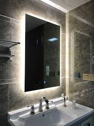 Lighted Bathroom Mirrors Fabulous Back Lighted Bathroom Mirrors Trends Also Backlit Cabinet
