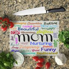 mom words cutting board beautiful glass cutting board with