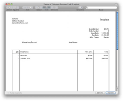 word invoice template mac invoice example