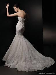 strapless mermaid style lace wedding dress va0034 oem china